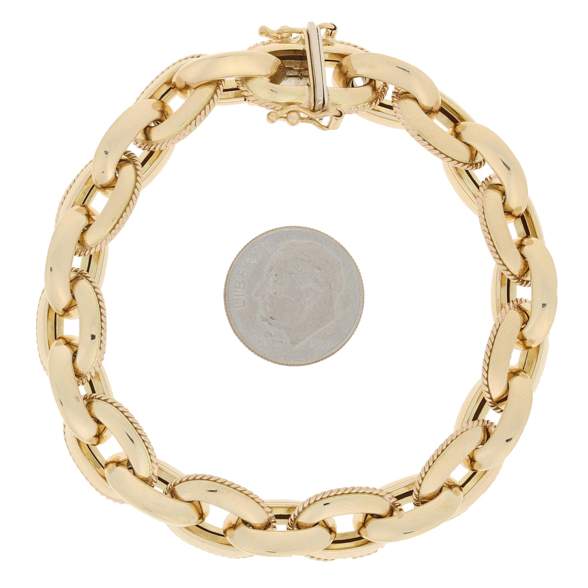 Fancy Cable Chain Bracelet