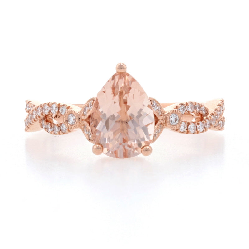 1.90ct Morganite & Diamond Ring Rose Gold