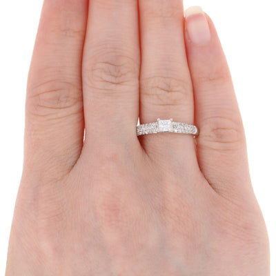 .86ctw Diamond Engagement Ring White Gold