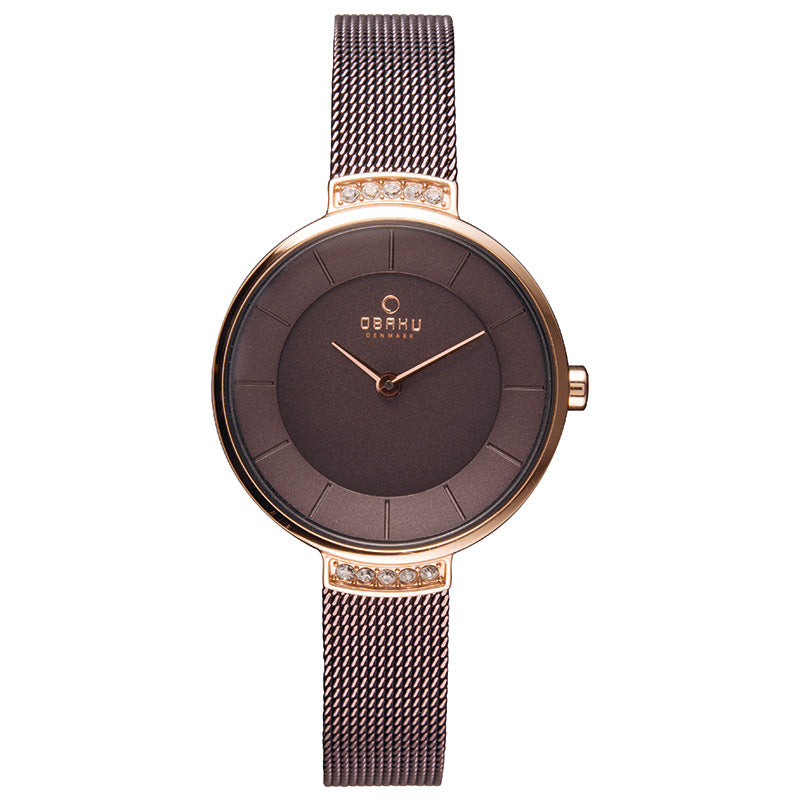 Obaku Varm Walnut Ladies Watch V177LEVNMN