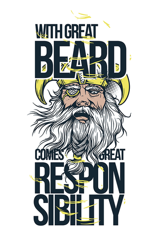 Beards witness Poster - Hey Prints Designer Posters - 1