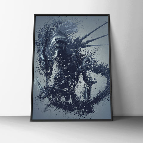 Abstract Alien Poster - Hey Prints Designer Posters - 6