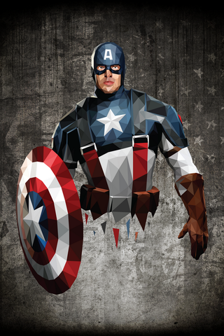 Captain America Poster - Hey Prints Designer Posters - 1