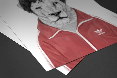 Gym Lion Poster - Hey Prints Designer Posters - 2