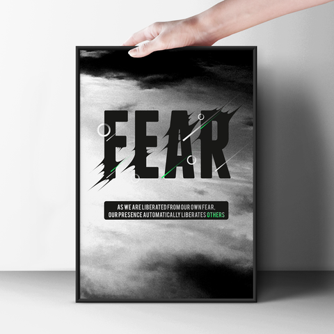 Liberates Your Fear Poster - Hey Prints Designer Posters - 5