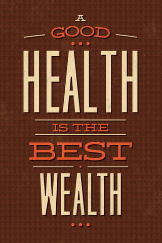 Health is Wealth Poster - Hey Prints Designer Posters - 1
