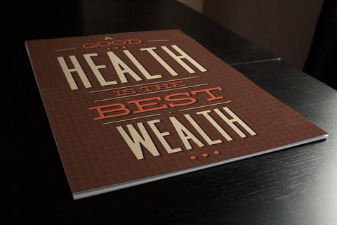 Health is Wealth Poster - Hey Prints Designer Posters - 6