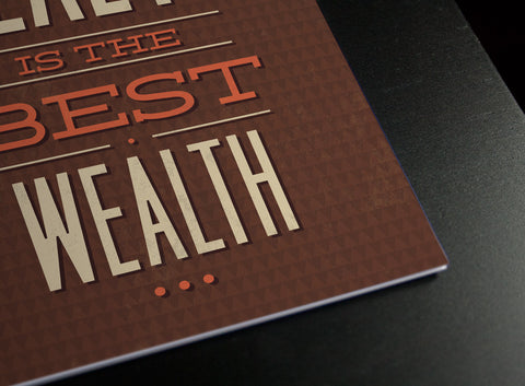 Health is Wealth Poster - Hey Prints Designer Posters - 7