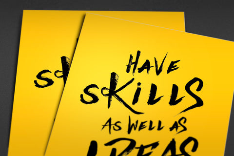 Skills and Ideas Poster - Hey Prints Designer Posters - 2