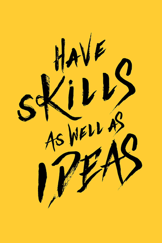 Skills and Ideas Poster - Hey Prints Designer Posters - 1