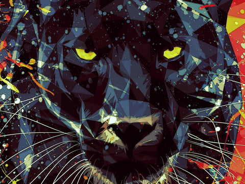 Golden Eyes of Panther Poster - Hey Prints Designer Posters - 2