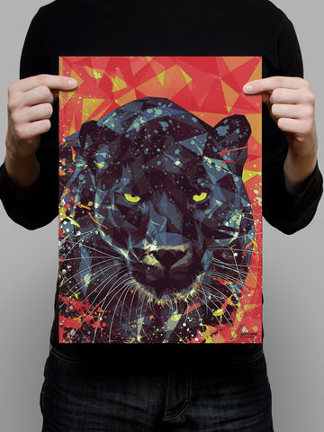 Golden Eyes of Panther Poster - Hey Prints Designer Posters - 5