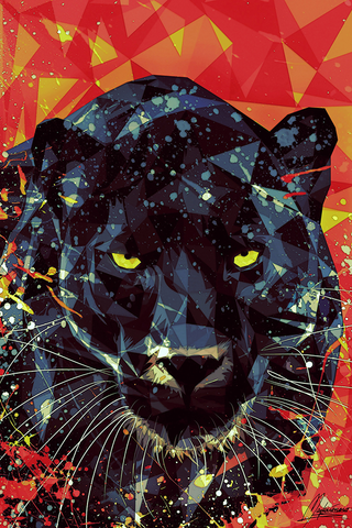 Golden Eyes of Panther Poster - Hey Prints Designer Posters - 1