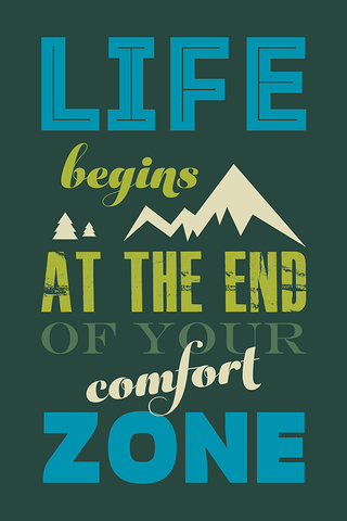The Comfort Zone Poster - Hey Prints Designer Posters - 1
