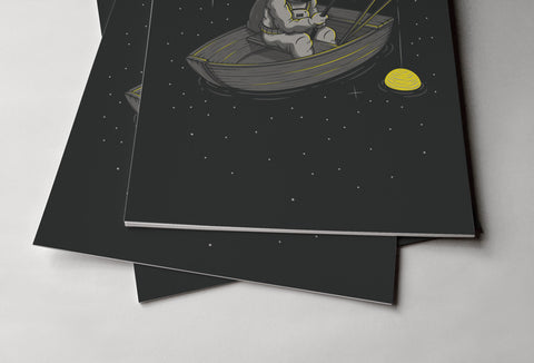 Lonely Fishing Poster - Hey Prints Designer Posters - 3