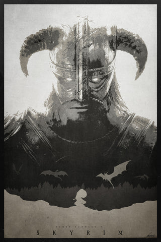The Elder Scrolls V Poster - Hey Prints Designer Posters - 1