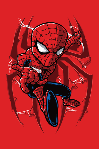 Go Up Spidey Poster - Hey Prints Designer Posters - 1