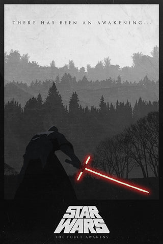 Red Light Saber Poster - Hey Prints Designer Posters - 1