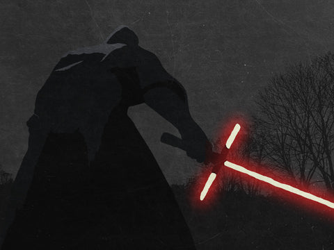 Red Light Saber Poster - Hey Prints Designer Posters - 4