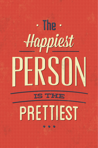 Laughing Makes You Beautiful? Poster - Hey Prints Designer Posters - 1