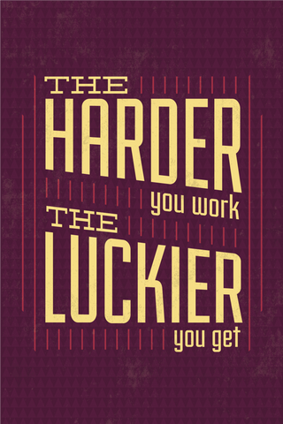 Work Harder Poster - Hey Prints Designer Posters - 1