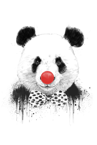 Clown Panda Poster - Hey Prints Designer Posters - 1