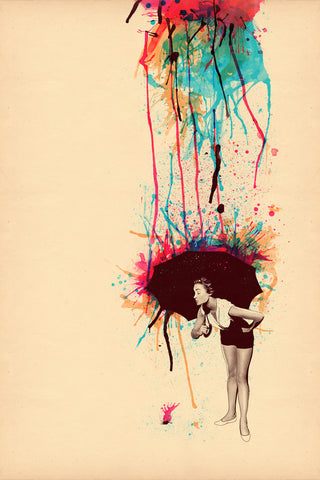 Raining Paint Poster - Hey Prints Designer Posters - 1