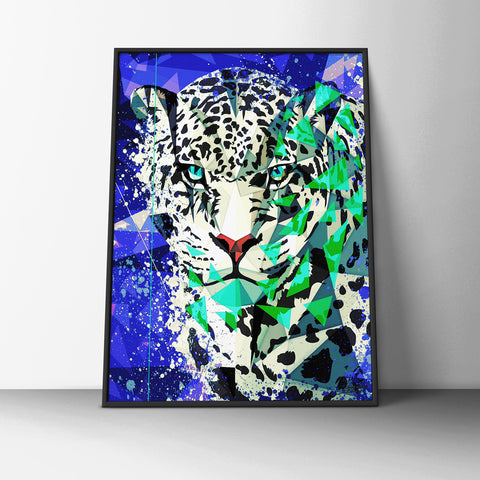 Snow Leopard Poster - Hey Prints Designer Posters - 6