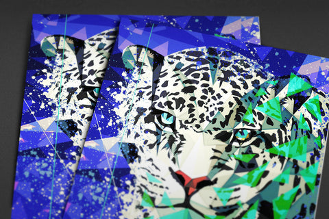 Snow Leopard Poster - Hey Prints Designer Posters - 4