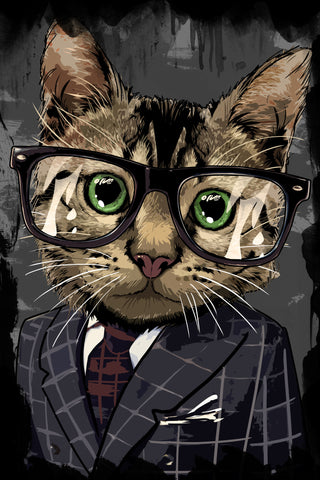 Professional Cat Poster - Hey Prints Designer Posters - 1