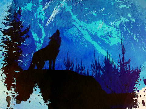 Wolf in Wolf Poster - Hey Prints Designer Posters - 2