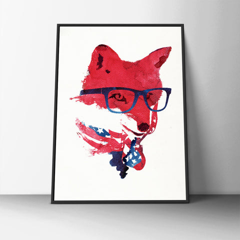 Hipster Fox Poster - Hey Prints Designer Posters - 4