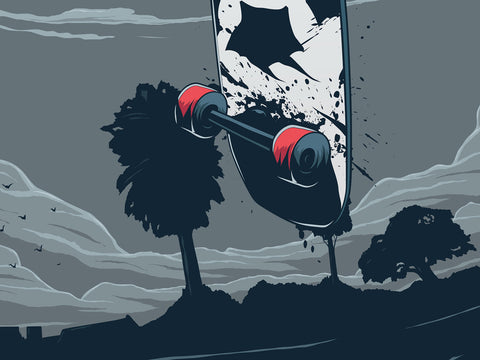 Scary Skater Poster - Hey Prints Designer Posters - 4