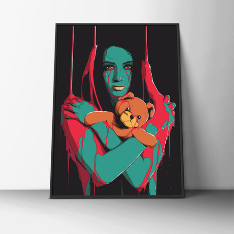 Scary Teddy Poster - Hey Prints Designer Posters - 6