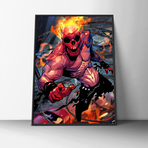 Fire Face Poster - Hey Prints Designer Posters - 6