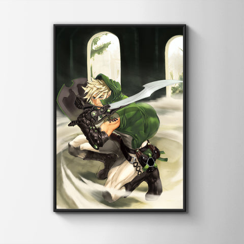Sword Yielding Poster - Hey Prints Designer Posters - 3