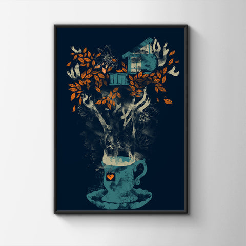 Tea House Poster - Hey Prints Designer Posters - 5