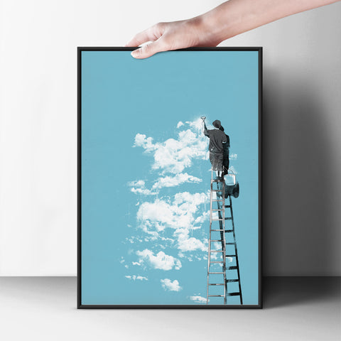 Cloudy or Not? Poster - Hey Prints Designer Posters - 7