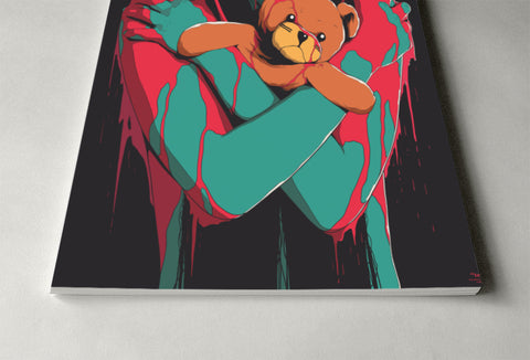 Scary Teddy Poster - Hey Prints Designer Posters - 4