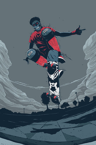 Scary Skater Poster - Hey Prints Designer Posters - 1