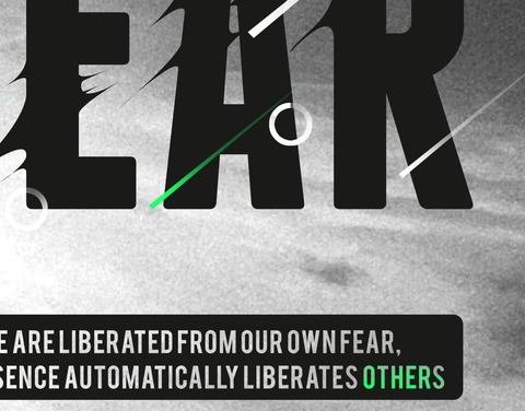 Liberates Your Fear Poster - Hey Prints Designer Posters - 7