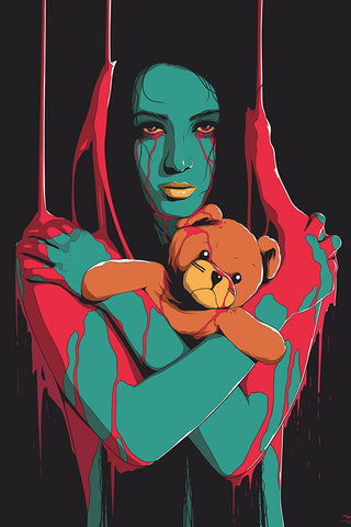 Scary Teddy Poster - Hey Prints Designer Posters - 1