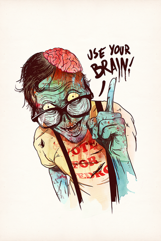 Zombie Reminder Poster - Hey Prints Designer Posters - 1