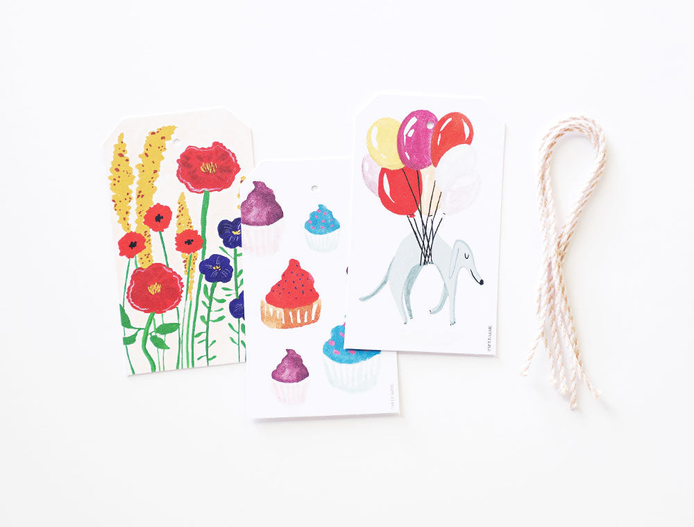 Balloons & Cakes Gift Tags