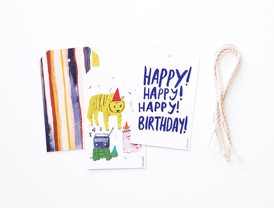 Party Animals Gift Tags