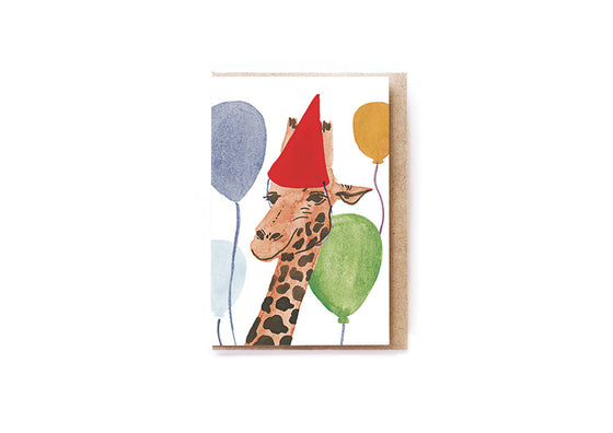 Party Giraffe card