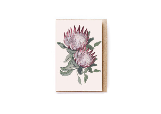 King Protea card
