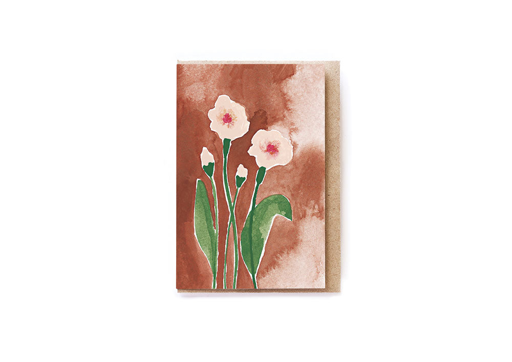 Dusty Roses card