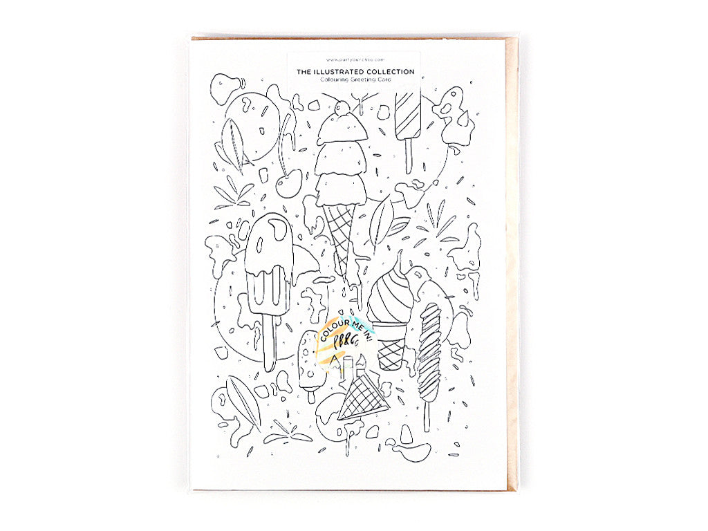 Ice Cream Dream Colouring Greeting card