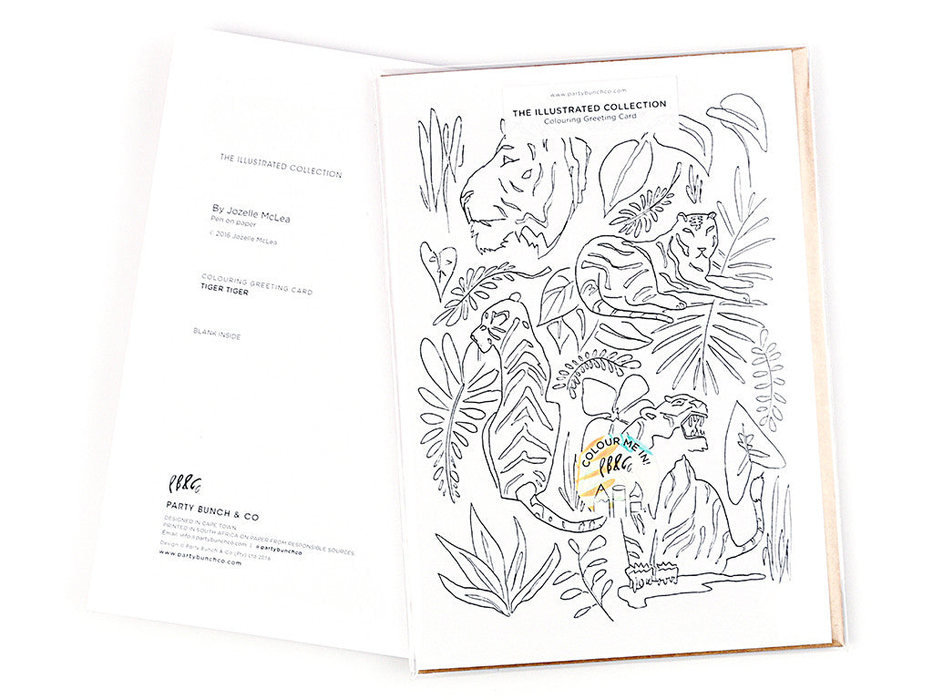 Tiger Tiger Colouring Greeting card